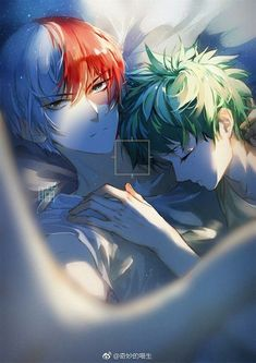 Todoroki Shouto x Midoriya Izuku / Boku no Hero Academia My Hero Academia Episodes, My Hero Academia Shouto, Hero Academia Characters, Hero Wallpaper, Cute Anime Wallpaper, Cute Anime Guys, Anime Love, Deku Anime, Lgbt Anime