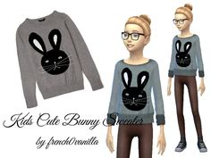 The Sims Resource: Bunny Sweater by french0vanilla • Sims 4 Downloads
