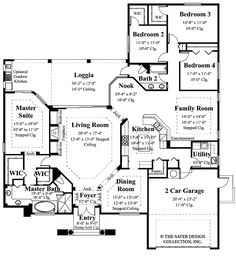 master suite floor plans | Master Suite with Outdoor Access!