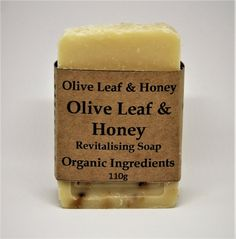 Olive Leaf & Honey Soaps Organic Olive Leaf & Honey 100g min  Natural Artisanal Soap Handmade In Scotland  Free from: SLS, parabens, petrochemicals, alcohol, animal fats, artificial fragrance, artificial colours, palm oil and all nasties.  Suitable for Vegetarians, Cruelty Free (Not Tested On Animals)  Safety Assessed  Ingredients: organic extra virgin olive oil, organic coconut oil, water, organic unrefined shea butter, organic castor oil, organic raw honey, parfum (blend of pure nat...
