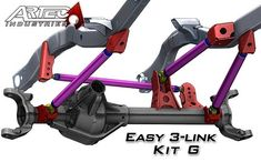 Artec Industries Easy 3 Link - Kit G - Adjustable Upper link This kit is based off our most popular parts we've sold our customers for a with panhard bar. This kit is intended for axles without a front truss. 2nd Gen Cummins, Mini Jeep, Off Road Suspension, Rat Rod Cars, Trophy Truck, C10 Chevy Truck, Sand Rail, Toyota 4x4, Cab Over