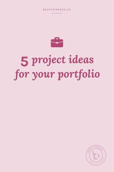 5 Project Ideas for Your Portfolio Becky Kinkead Squarespace Web Designer Web Design, Design Logo, Graphic Design Projects, Creative Design, Branding Design, Portfolio Design, Portfolio Ideas, Creative Portfolio, Graphic Portfolio