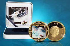 Joululahjaidea 🎁 Kaunis Lumikuningatar-kultaraha, jossa on suomalaisen Rudolf Koivun kuvitus kuva-aiheena. Frozen Disney, Snow Queen, Polaroid Film, Disney Frozen