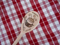 Personalized thank you wooden spoon  hand by Beecreativebox