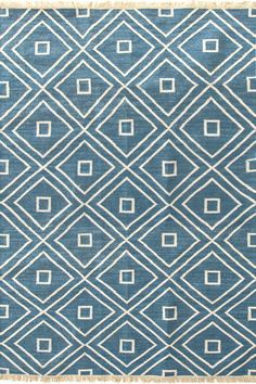 Indoor/Outdoor - durable, but would want to find out how soft it is //  #DashAndAlbert Mali Indigo Indoor/Outdoor Rug