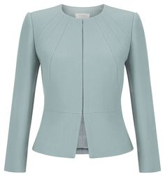 Hobbs - Aphra Jacket in Cameo Green. Reduced to £109 from £229. Looks very chic plus is high necked so would keep you warm.