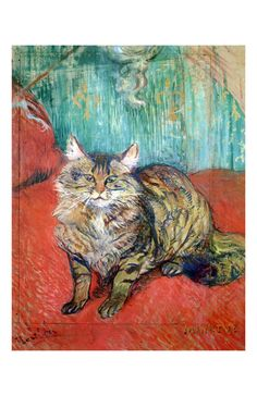 Kitty Minette to Henri de Toulouse-Lautrec we manufacture for you on watercolor paper, canvas or poster paper. Henri De Toulouse Lautrec, Illustration Art, Illustrations, Post Impressionism, Andy Warhol, French Art, Cat Art, Painting & Drawing, Art History