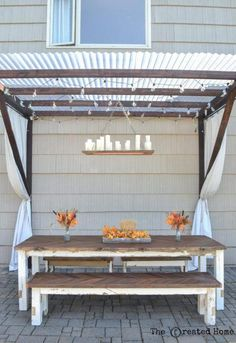 Upgrade your outdoor space with these fun and totally doable patio diy ideas. Beginners to advanced diyers will find a great project here! ideas fun 19 Patio DIY Ideas to Upgrade Your Outdoor Space Diy Pergola, Patio Diy, Wooden Pergola, Outdoor Pergola, Backyard Patio, Outdoor Decor, Pergola Ideas, Outdoor Living, Wood Patio