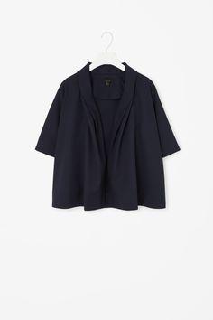 Draped A-line blazer