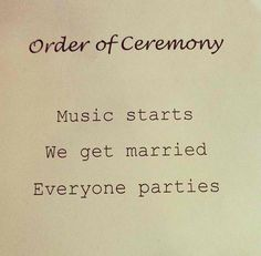 order of wedding ceremony this makes an awsome wedding program id love this