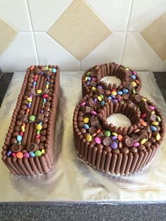 18th Birthday Chocolate Finger Smarties And Sweets Cake Chocolates No