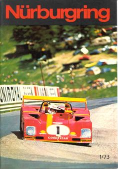 Cover of the Nürburgring magazine, issue 1/1973