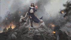 Liliana, Defiant Necromancer - MtG Art