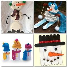 Snowman Crafts for the kids