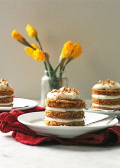 mini carrot cake with cream cheese frosting | Pure Wow