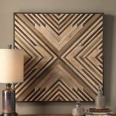 Slats of strong fir and compressed wood are carefully fitted together in the Uttermost Floyd Wooden Wall Art to create an elegant geometric pattern. Hanging Wall Art, Diy Wall Art, Metal Wall Art, Wall Art Decor, Unique Wall Decor, Wooden Wall Decor, Wooden Art, Wooden Walls, Scrap Wood Art