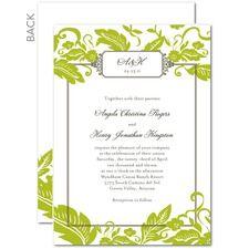 Botanical Border Wedding Cards