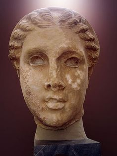 Head of woman. National Archaeological Museum in Athens.