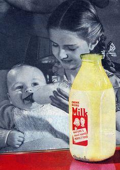 Vintage Milk Ad, ca. 1948