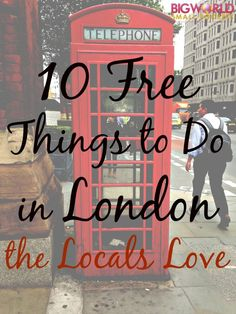 10 FREE Things to Do in London that the Locals Love My recommendations for the best free things to do in London that locals who live there love too {Big World Small Pockets} Sightseeing London, London Travel, Things To Do In London, Free Things To Do, European Vacation, European Travel, Vacation Spots, Voyage Europe, England And Scotland