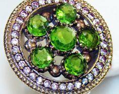 Peridot Ring Size 9.25 Handmade Sterling Silver Peridot Ring