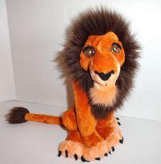 Disney Scar Plush Lion King Villain #Disneystore #toys #itemsforsale