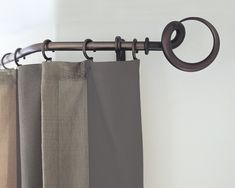 For when the simple statement piece is required. Hand forged Tusk finial in bronzed finish from The Steel Collection. link in bio to find out more. Bay Window Curtain Poles, Wooden Curtain Poles, Metal Curtain Pole, Wood Curtain, Steel Curtain, Types Of Curtains, Curtains With Rings, Double Curtains, Modern Curtains