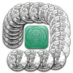 Special Price 2016 1 oz Silver American Eagle Coins BU Lot Roll Tube of 20 Silver Eagle Coins, Silver Eagles, Silver Coins, Bullion Coins, Silver Bullion, Gold American Eagle, Coin Design, Silver Bars, Coin Collecting