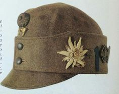 Austro-Hungarian Mountain Troops Cap Military Cap, Military Uniforms, Austrian Empire, German Soldiers Ww2, Army Hat, Austro Hungarian, World War One, Kaiser, European History