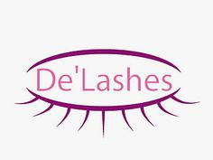 Logo for an eye lahes extensions business