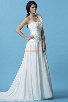 Eden Gold Label A-linie Lange Exklusive Brautkleider aus Chiffon