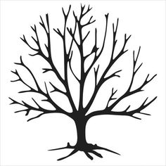 tree template no leaves tree with no leaves clip art vector clip