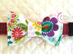 Bow Tie for Dogs,  Floral Bow Tie for Pets, Pet Accessory, Dog Bow Tie, Pet Neckwear, Bow Tie , Pet Bow Tie, Cat Bow Tie by RedbirdOriginals on Etsy