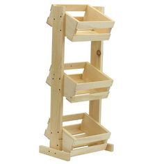 3 Tier Solid Wood Crate Stand | Joss & Main