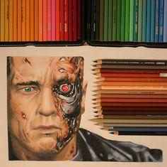 https://flic.kr/p/wchzzU | Drawing Terminator Genisys | Arnold Schwarzenegger | YouTube Video coming soon!