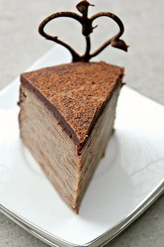 30 Layered Nutella Crepe Cake