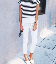 Sailor stripes making it feel like Spring. #myFCstyle