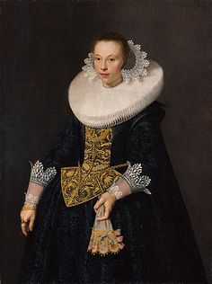 """""""Portrait of a Young Woman""""  --  1632  --  Nicolaes Eliaszoon Pickenoy  --  Dutch  --  Oil on Panel  --  Getty Museum"""
