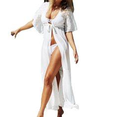 Fashion Suit Beach Dress Lace Long Women Beach Dress Super Deal Beach Cover Up 2 Colors Hot ZT1