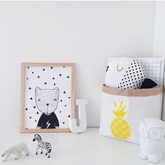 Black and white decor - kids rooms