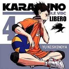 It's our favorite Libero! Haikyuu Nishinoya, Haikyuu Meme, Kagehina, Haikyuu Tumblr, Hinata, Naruto, Haikyuu Characters, Anime Characters, Haruichi Furudate