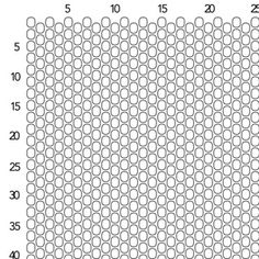 Peyote Stitch Graph Paper - Size 8 Seed Beads | Fusion Beads Inspiration Gallery