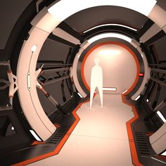 3D MODEL: https://www.turbosquid.com/3d-models/futuristic-corridor-interior-1-3d-model/794443?referral=cermaka