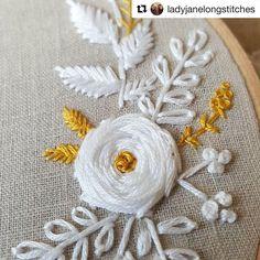 "954 Likes, 10 Comments - Babi Bernardes (@bordados_e_bordadeiras) on Instagram: ""@ladyjanelongstitches #embroidery #broderie #bordado #ricamo #needlework #handembroidery"""