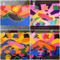 これは、先生と先輩達それぞれの作品です。これを乾かして糊を落としてもらって出来上がり。体験作業は色を塗るところまでで、そのあとの作業はお任せ。しばらくすると完成品が送られてくるんですって!楽しみだー