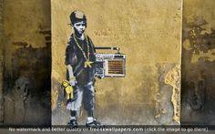 Hip Hop Child Graffiti wallpaper