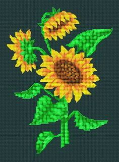 Another pattern I'm not really skilled enough for, but I can try. Cross Stitch Designs, Cross Stitch Patterns, Cross Stitching, Cross Stitch Embroidery, Crochet Cross, Perler Patterns, Cross Stitch Flowers, Embroidered Flowers, Needlework