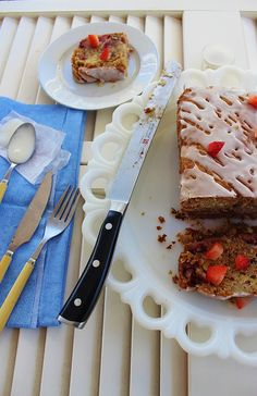 Strawberry Banana Nut Biscuit Loaf ~ Syrup and Biscuits