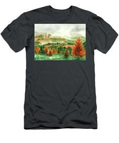 Transylvanian Autumn T-Shirt featuring the painting Transylvanian Autumn by Olivia C