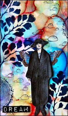 Designsbyryn.com stencil, card made by Creativity